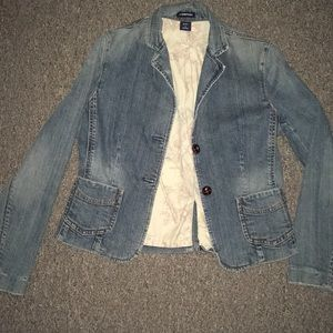Flare bottom jean jacket